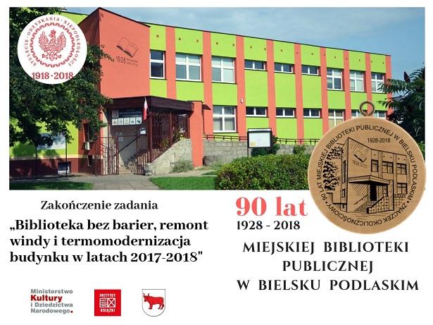 Budynek biblioteki - po zmianie elewacji 2018