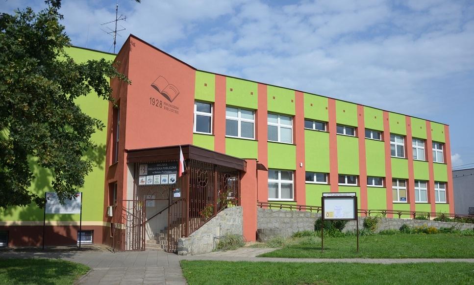 Budynek biblioteki - główne wejście