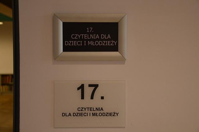 Tabliczki informacyjne na drzwi- w alfabecie Braillea