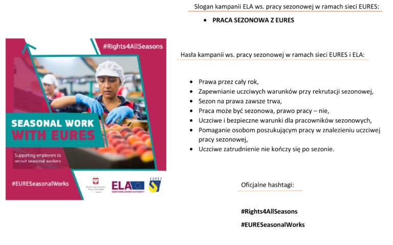 Informacja nt. pracy sezonowej w UE