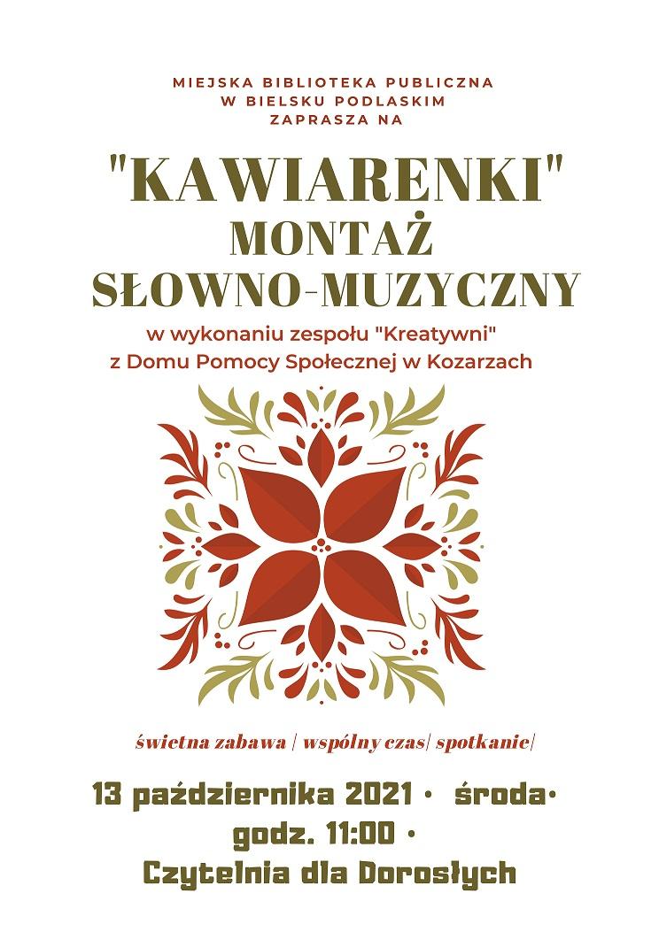 "Plakat ""Kawiarenki"""